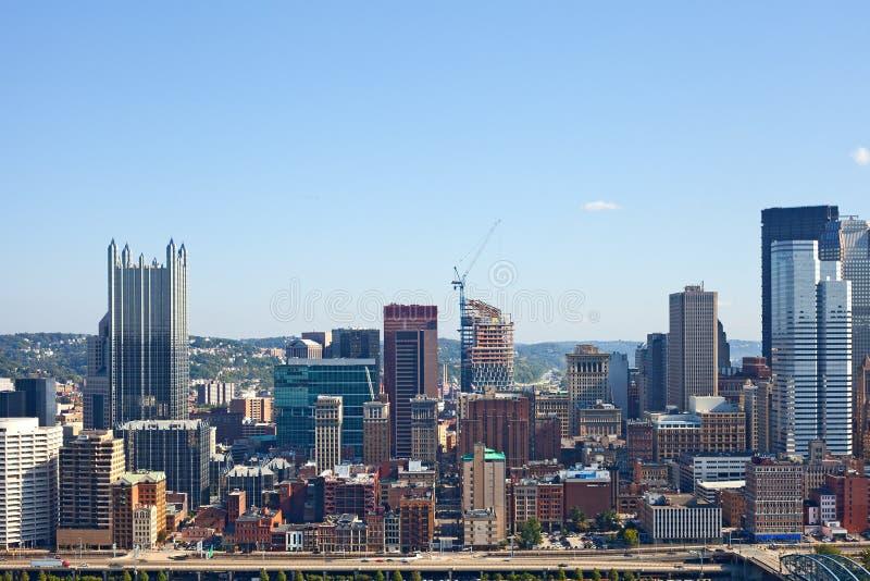 Pittsburgh Pennsylvania los E.E.U.U., panorama del horizonte fotografía de archivo libre de regalías
