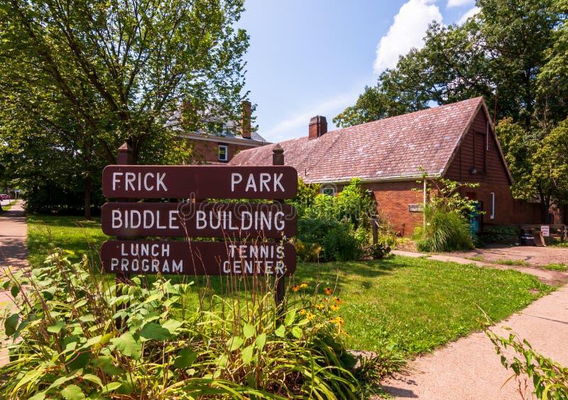 Pittsburgh, Pennsylvania, los E.E.U.U. 7/25/2019 de Frick del parque del edificio de Biddle en la avenida del sur de Braddock imágenes de archivo libres de regalías
