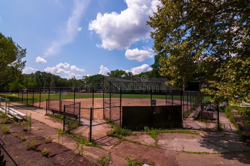 Pittsburgh, Pennsylvania, los E.E.U.U. 7/25/2019 del 14to de la sala campo de béisbol en el parque de Frick en la avenida del sur fotografía de archivo libre de regalías