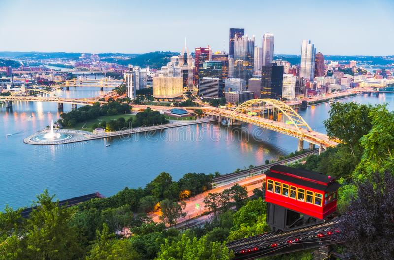 Pittsburgh, Pennsylvania, los E.E.U.U. 2017-08-20, Pittsburgh hermosa fotografía de archivo libre de regalías
