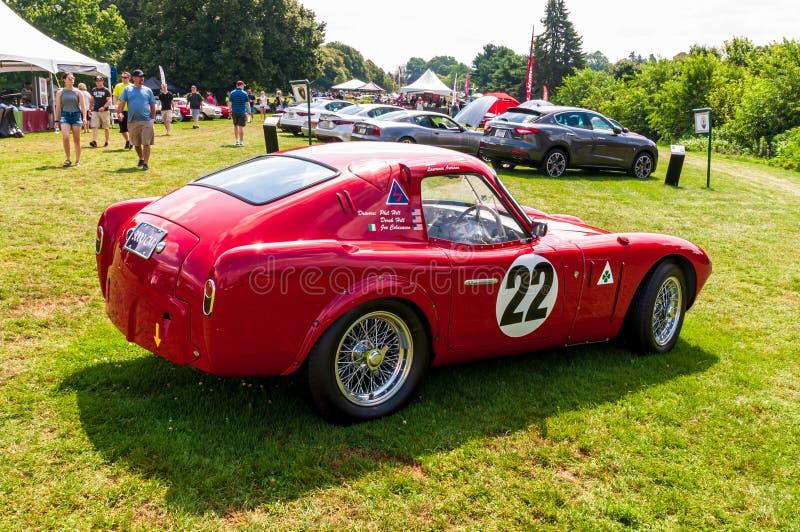 Pittsburgh, Pennsylvania, USA 7/21/2019 die Pittsburgh-Weinlese Gran Prix, Alfa Romeo-Rennwagen gefahren von Phil Hill stockfotos