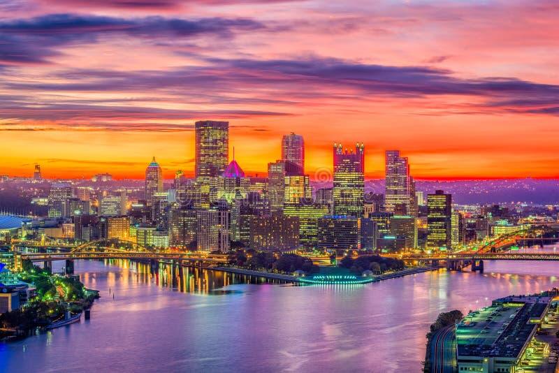 Pittsburgh Pennsylvania, USA horisont royaltyfria bilder