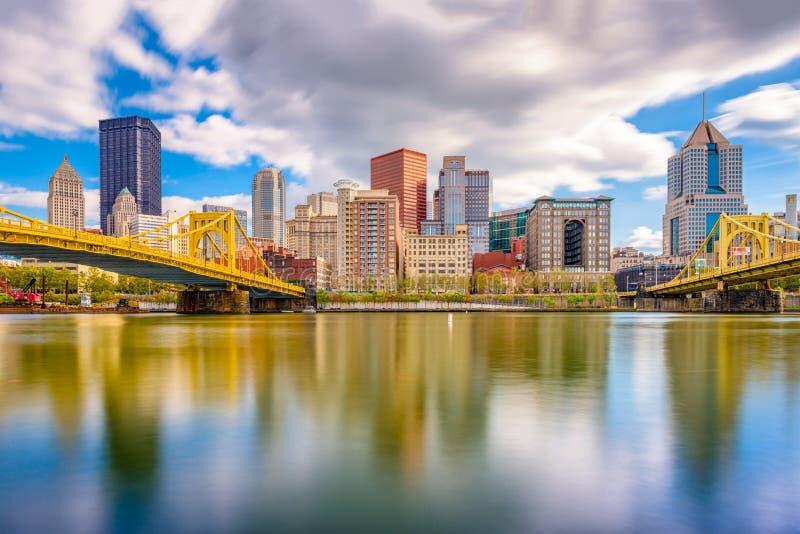 Pittsburgh Pennsylvania, USA horisont royaltyfri foto