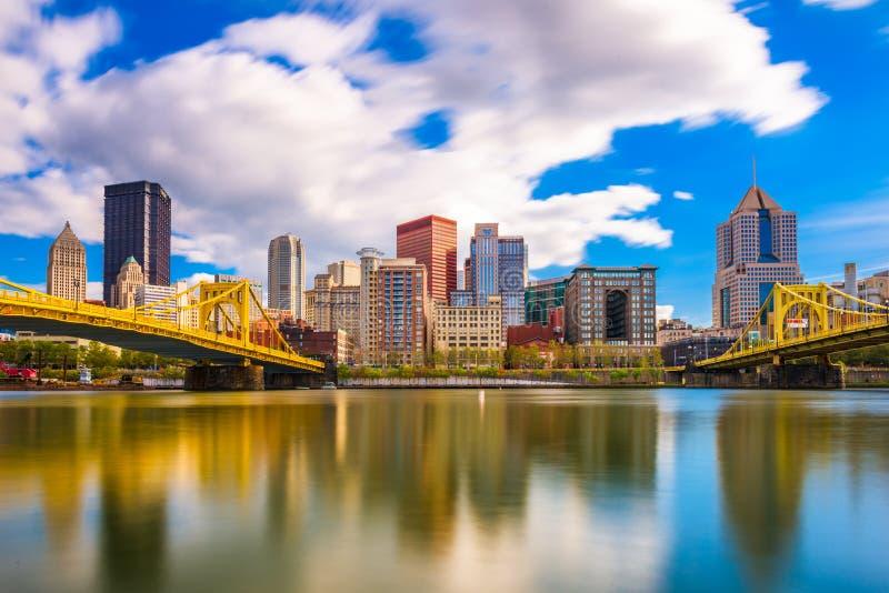 Pittsburgh Pennsylvania, USA horisont arkivbilder