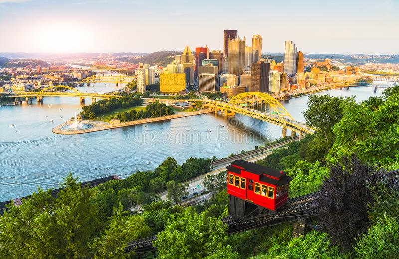 Pittsburgh, Pennsylvania, USA 2017-08-20, schönes Pittsburgh an lizenzfreie stockfotos