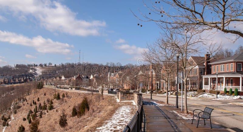 Pittsburgh, Pennsylvania, USA 02/21/2019 the Summerset neighborhood stock images