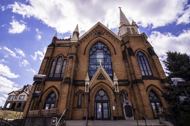 Pittsburgh, Pennsylvanie, Etats-Unis 3/15/2019 St Mary de l'église catholique de bâti dans le Mt Washington photo stock