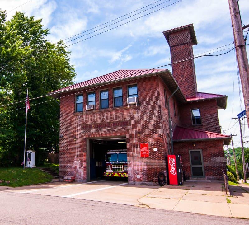 Pittsburgh, Pennsylwania, usa 6/8/2019 Pittsburgh biur Pożarniczy Parowozowy dom 19 zdjęcie stock