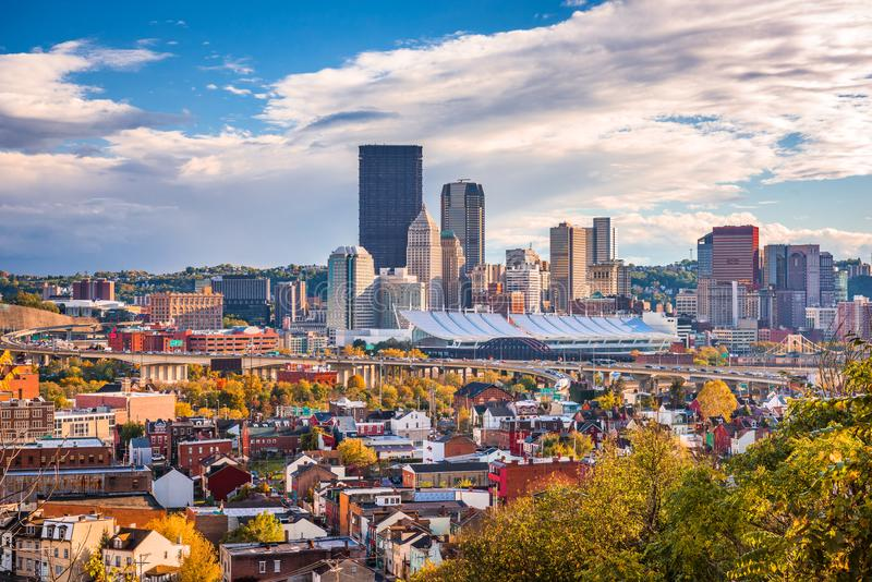 Pittsburgh, Pennsylwania, usa linia horyzontu obrazy royalty free