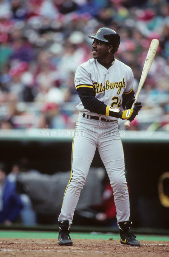 Pittsburgh Pirates-Außenfeldspieler Barry Bonds stockbilder