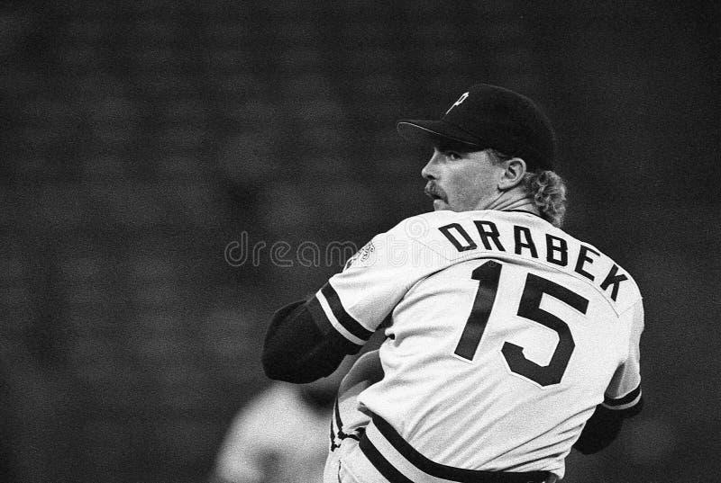 Doug Drabek. Pittsburgh Pirates pitcher Doug Drabek. Image taken from B&W negative stock photos