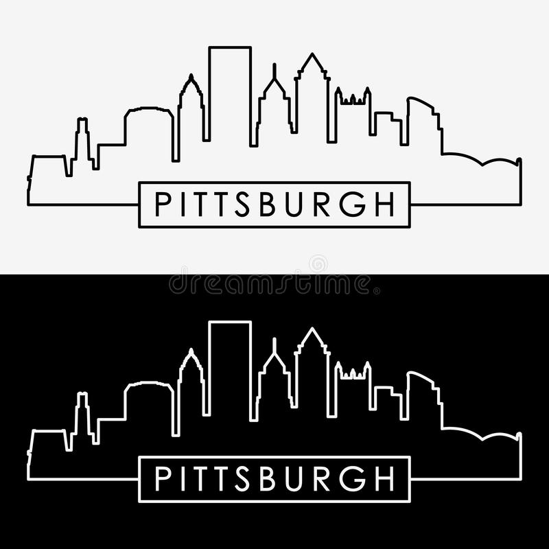 Pittsburgh skyline. vector illustration
