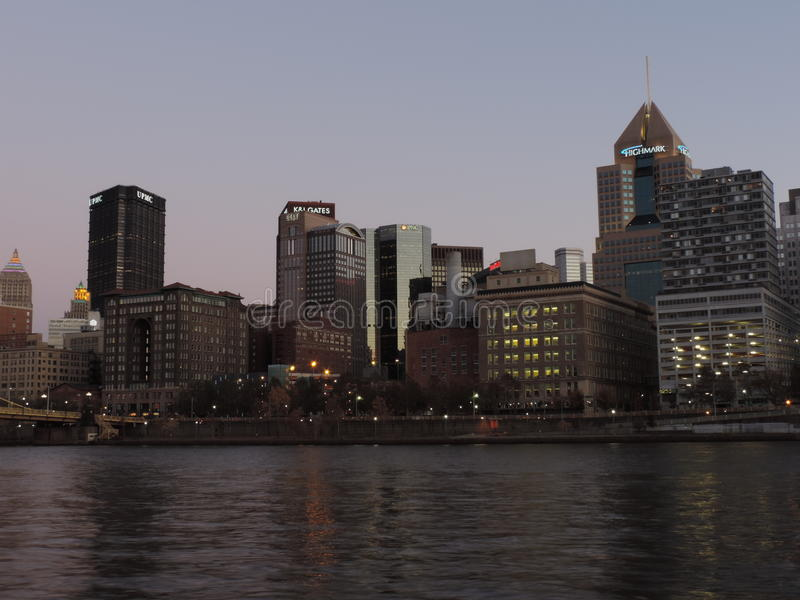 Download Pittsburgh Skyline At Sunset From PNC Park Editorial Stock Photo - Image: 35441343