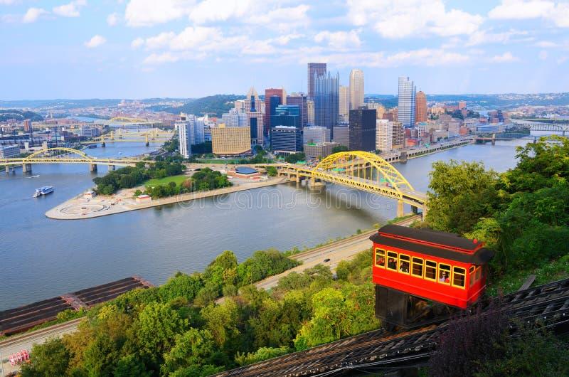 Pittsburgh sluttning royaltyfria bilder