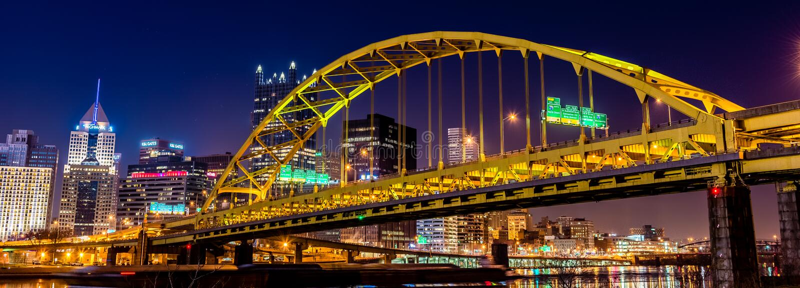 Pittsburgh-Stahl-Brücke stockfoto