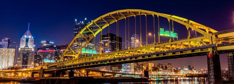 Pittsburgh stali most zdjęcie stock