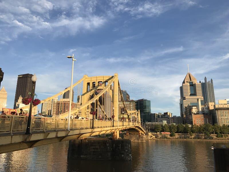 Pittsburgh steel bridge stock photography