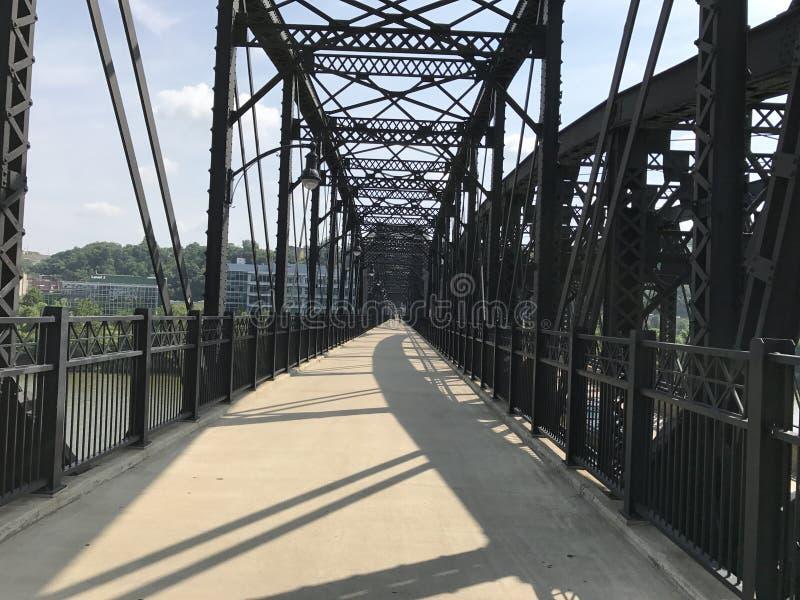 Pittsburgh steel bridge stock image
