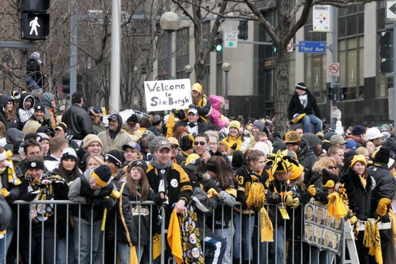 Pittsburgh Steeler Parade royalty free stock photo