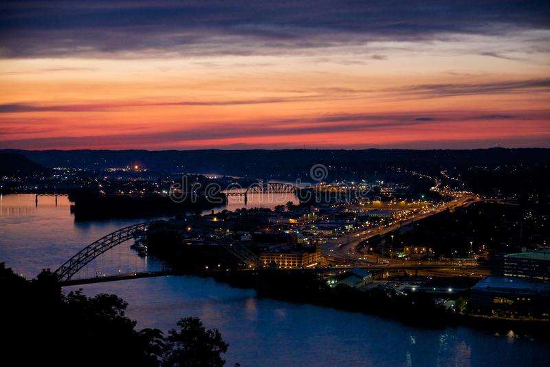 Pittsburgh Sunset stock photography