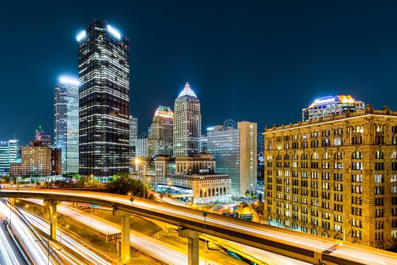 Pittsburgh van de binnenstad, Pennsylvania stock fotografie
