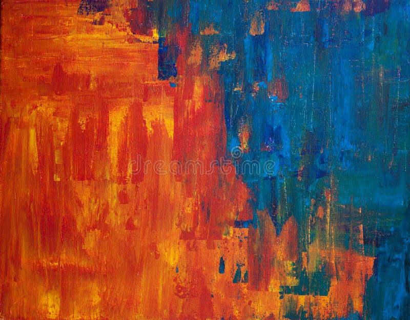 Pittura acrilica astratta fotografie stock