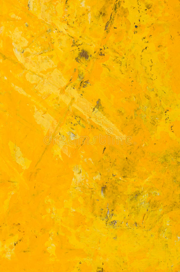 Pittura acrilica astratta gialla illustrazione di stock