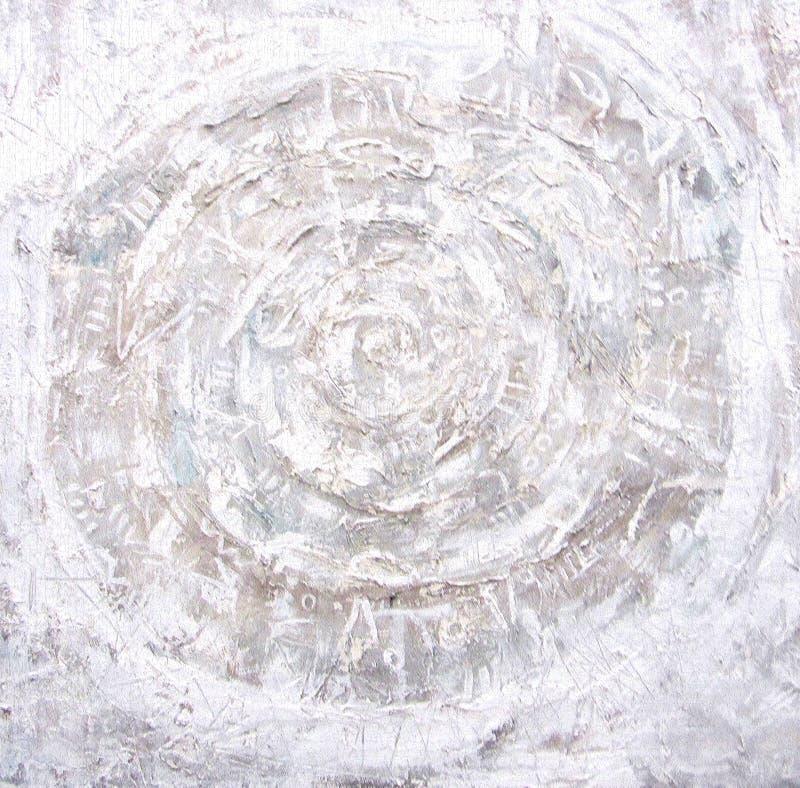Pittura acrilica Cerchi ardenti su fondo strutturato immagini stock libere da diritti