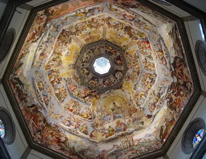 Pittura all'interno del Duomo. Firenze, Italia. immagine stock