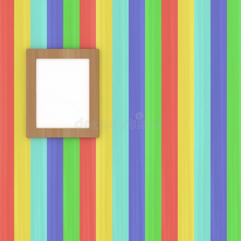 Pittura all'interno della galleria di arte illustrazione vettoriale