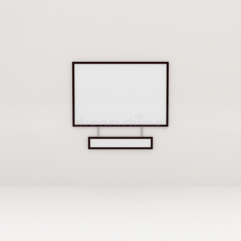 Pittura all'interno di una galleria illustrazione di stock