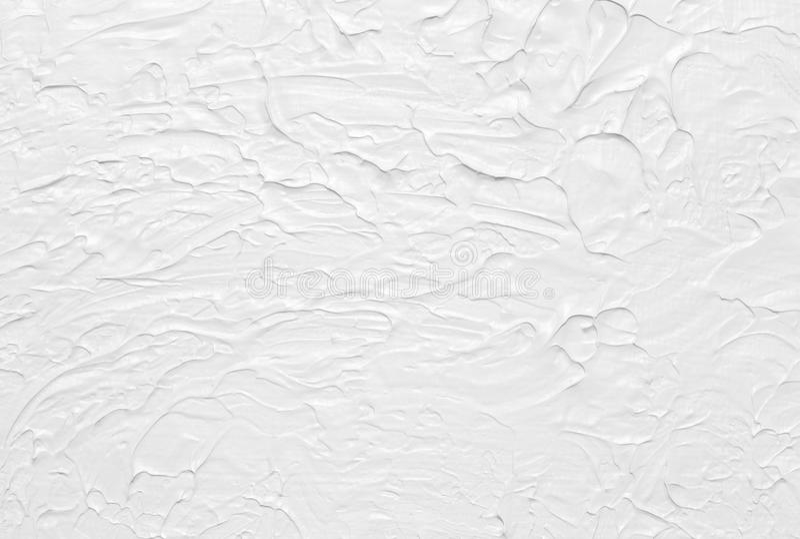 Pittura astratta bianca di struttura fotografia stock