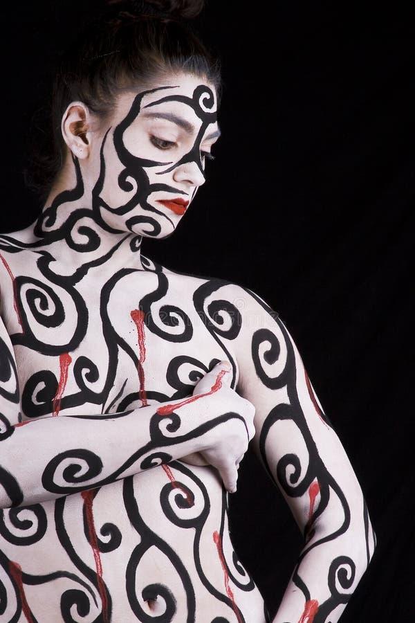 Pittura astratta del corpo fotografia stock libera da diritti