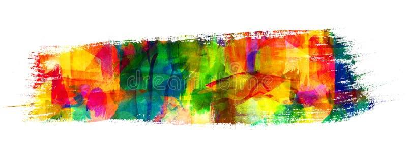 Pittura astratta del guasch illustrazione di stock