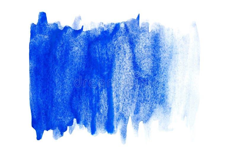 Pittura astratta della mano di arte dell'acquerello su fondo bianco Priorità bassa dell'acquerello illustrazione vettoriale