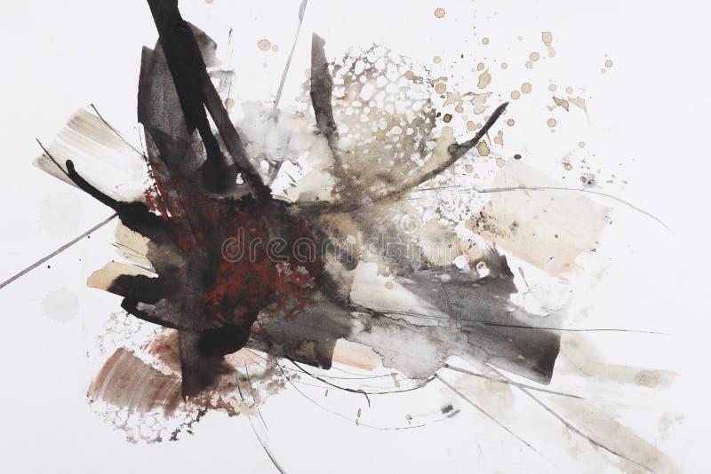 Pittura astratta della spazzola illustrazione di stock