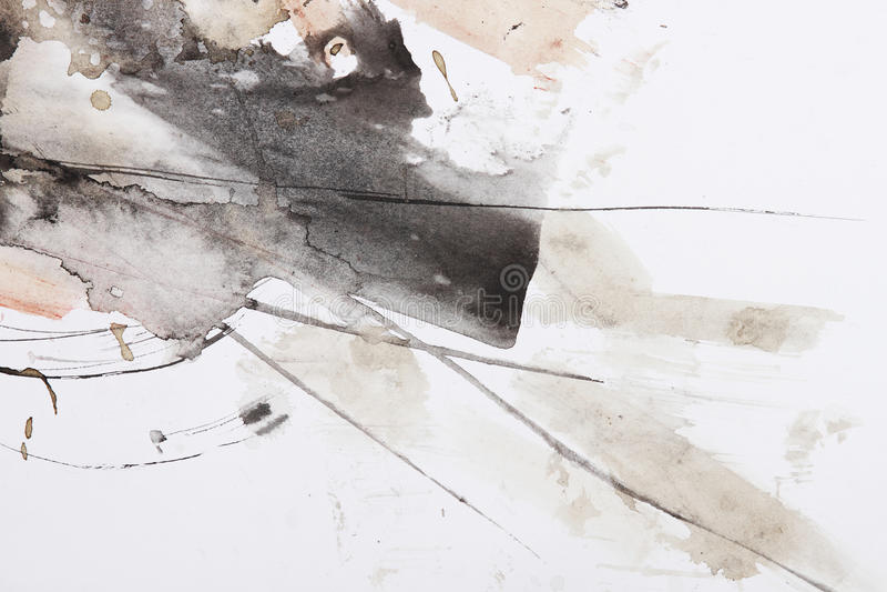 Pittura astratta della spazzola royalty illustrazione gratis