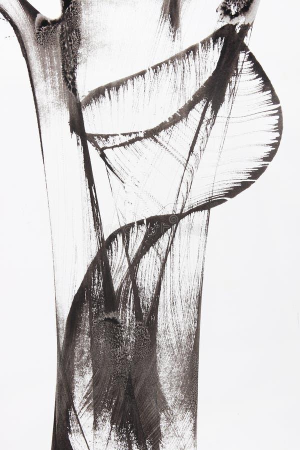 Pittura astratta della spazzola illustrazione vettoriale
