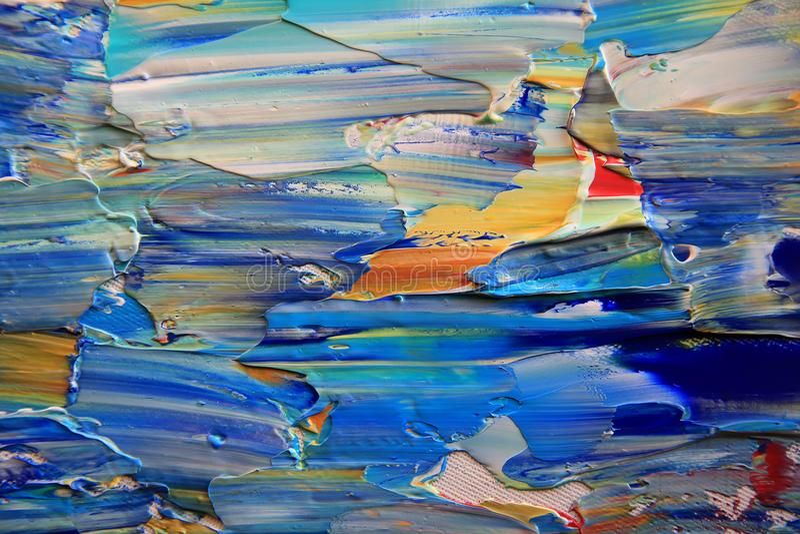 Pittura astratta di arte con i colori acrilici fotografie stock libere da diritti