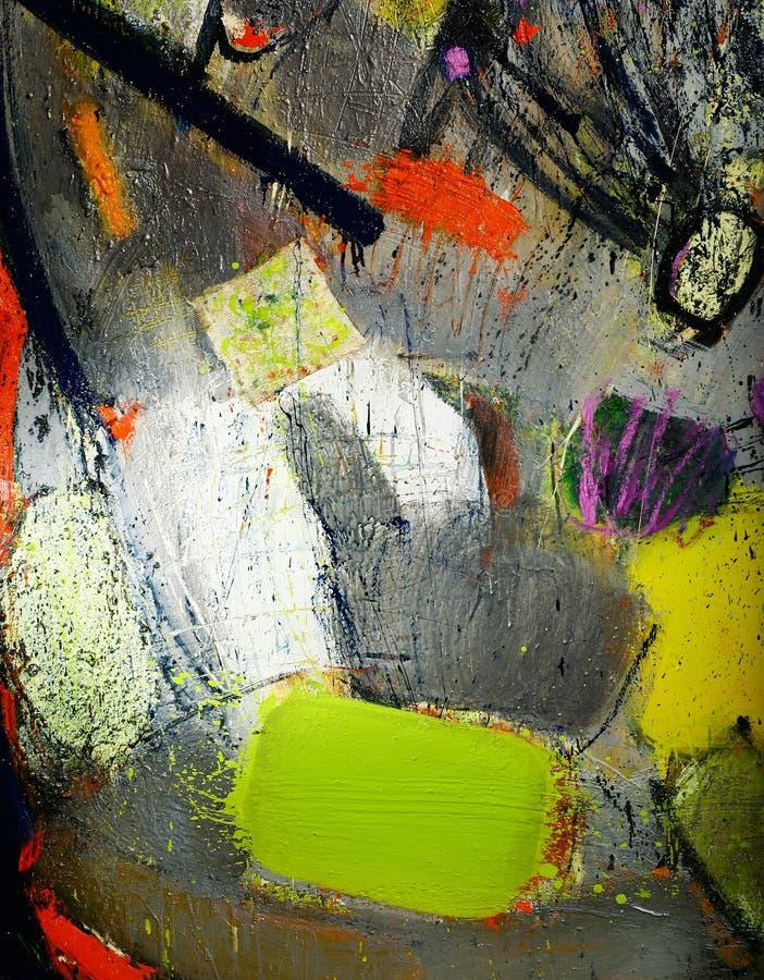 Pittura astratta di espressione fotografie stock