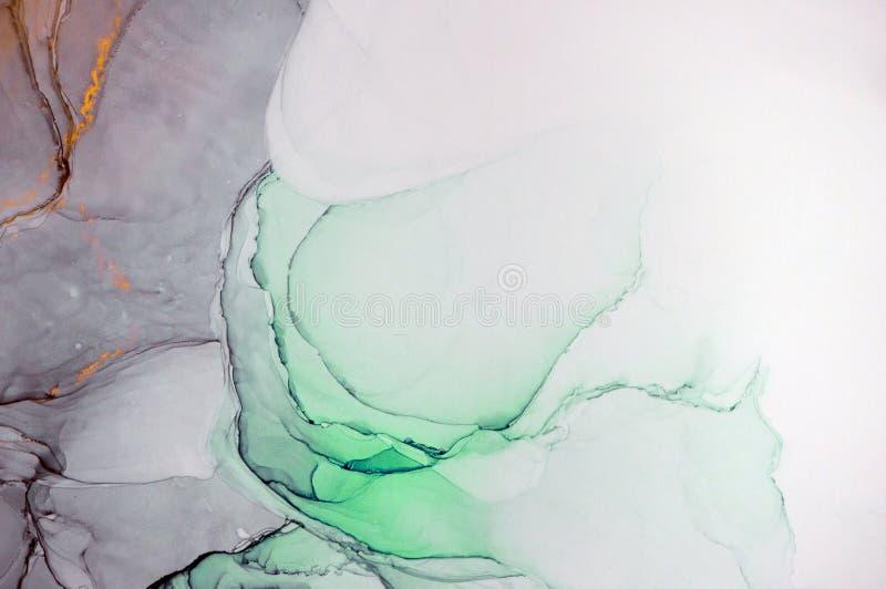 Pittura astratta moderna dell'inchiostro dell'alcool, arte moderna, astrattismo, arte contemporanea immagini stock libere da diritti