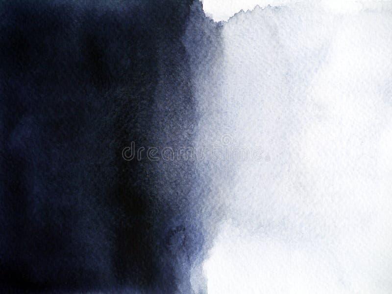 Pittura bianca nera dell'acquerello di struttura del fondo dell'ombra della luce intensa royalty illustrazione gratis