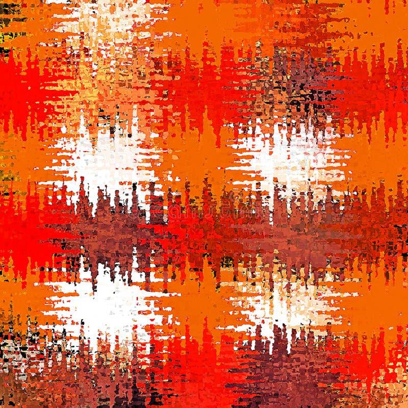 Pittura caotica della spazzola dello spruzzo dell'estratto della pittura di Digital nel fondo caldo variopinto di colori pastelli illustrazione di stock