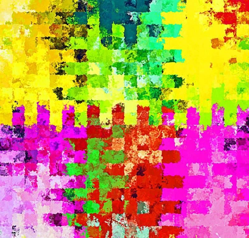 Pittura caotica della spazzola dello spruzzo dell'estratto della pittura di Digital nel nero, nel bianco ed in Gray Colors Backgr fotografie stock