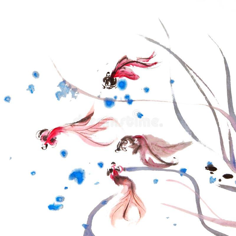 Pittura cinese illustrazione vettoriale