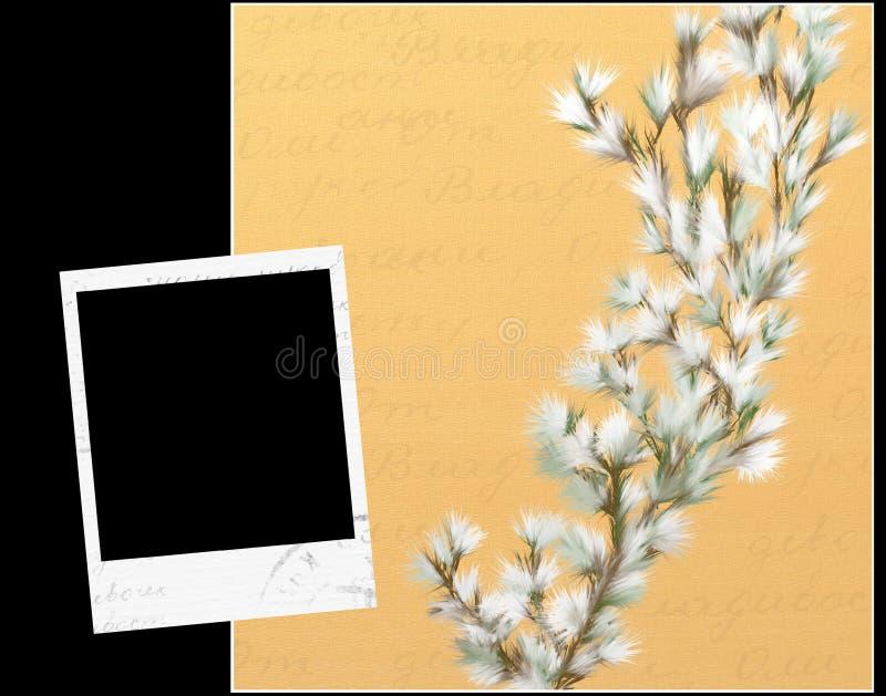 Pittura con i blocchi per grafici del polaroid royalty illustrazione gratis