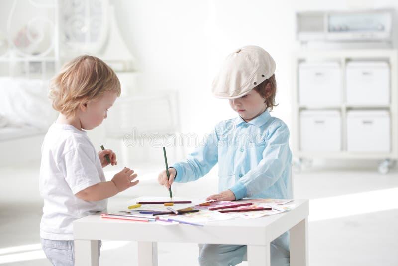 Pittura dei bambini fotografia stock libera da diritti