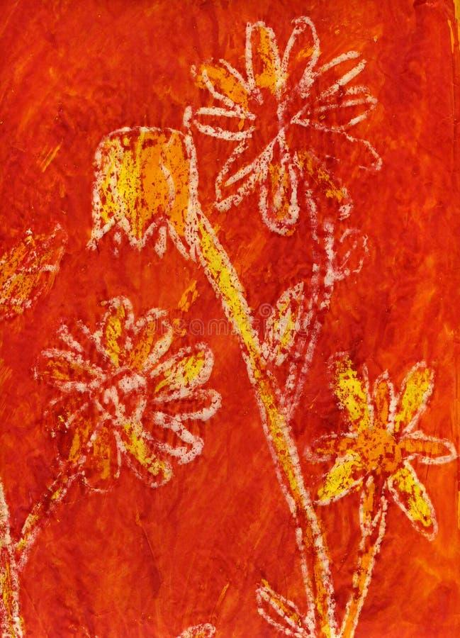 Pittura dei fiori royalty illustrazione gratis
