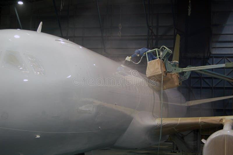 Pittura dei velivoli fotografia stock