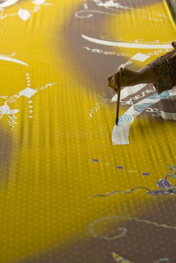 Pittura del batik fotografie stock libere da diritti